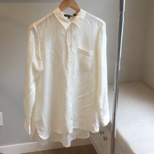 Theory Cream Blouse**Brand New with Tags**M